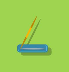 Javelin throw in sticker style vector