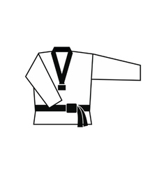 Kimono and martial arts belt icon vector image