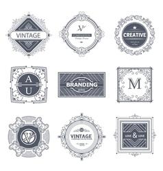 Monogram luxury elements vector