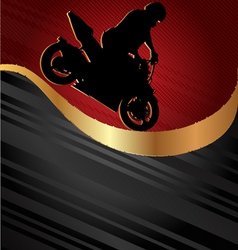 motorcycle racing background vector image