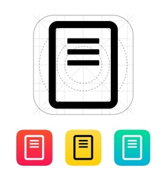 Note page icon vector