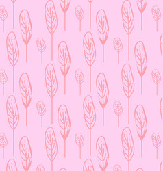 pattern tree pink vector image vector image