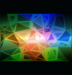 Pink green blue random sizes low poly background vector