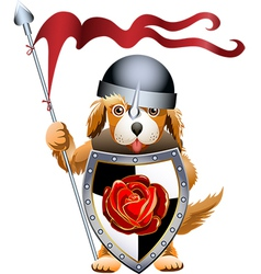 Puppy knight vector image vector image