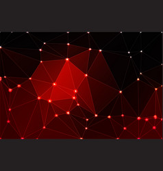 Red brown black geometric background with mesh vector