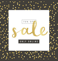 Sale banner design with gold elements vector