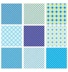 Seamless Fabric Checked Pattern vector image