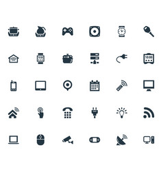 Set of simple internet icons elements desktop vector