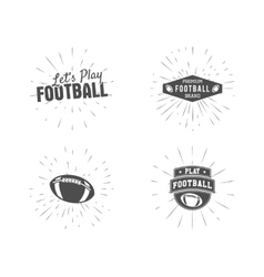 Set of vintage rugby and american football labels vector