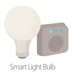 smart light bulb icon cartoon style vector image vector image
