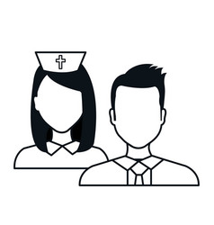 Staff person medical service medical isolated vector
