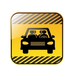 Traffic sign of car crossing vector