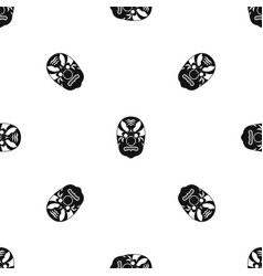 tribal mask pattern seamless black vector image vector image