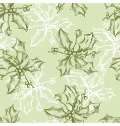 Vintage Christmas and Holidays seamless hand drawn vector image vector image