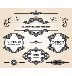 Vintage design elements set vector image vector image