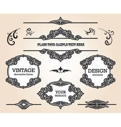 Vintage design elements set vector image