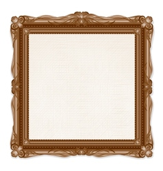 Vintage picture frame isolated on white background vector