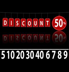 website banner discount vector image vector image