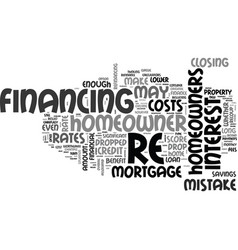When is it a mistake to re finance text word vector