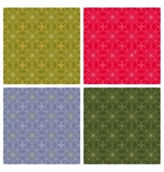 Geometric backgrounds seamless patterns vector