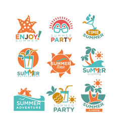 Summer holidays or party and travel adventure vector