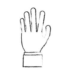 blurred silhouette cartoon hand human palm vector image