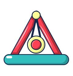 Attraction pendulum icon cartoon style vector