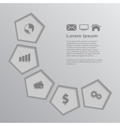 Infographic template 3 vector