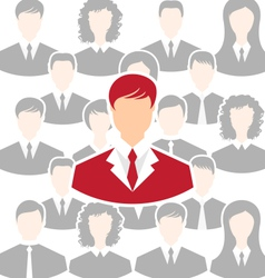 Concept of leadership community business people - vector