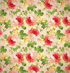 Vintage floral pattern with red roses vector