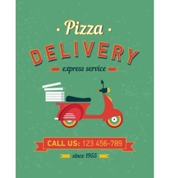 Vintage delivery poster with old typography and vector