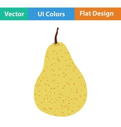 Flat design icon of pear vector