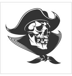 Evil skull  Dark t-shirt design Pirate vector image