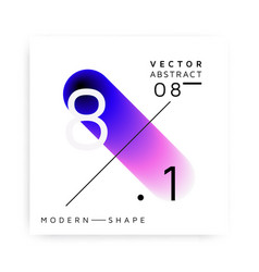 abstract modern colorful shape vector image vector image