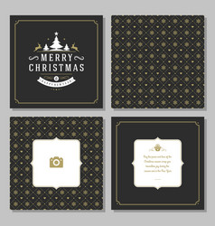 Christmas greeting card design and pattern vector