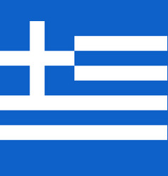 Colored flag of greece vector