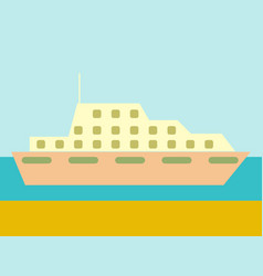 cruise ship ocean liner in water and sky vector image vector image