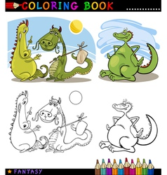 Fantasy Dragons for coloring vector image vector image
