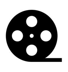 Film strip black color icon vector