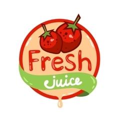 Fresh juice emblem 10 vector