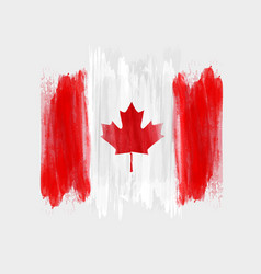 Happy canada day background with watercolor vector