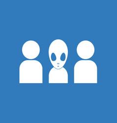 Icon aliens silhouettes vector