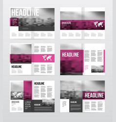 Magazine or catalog template vector