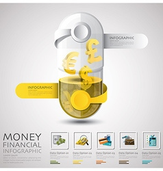 Pill capsule money and financial business vector