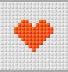 Seamless constructor background with heart vector