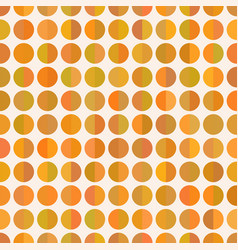seamless cute delicate simple pattern with circles vector image
