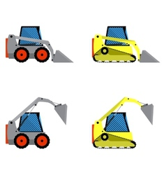 Small loaders set vector image vector image