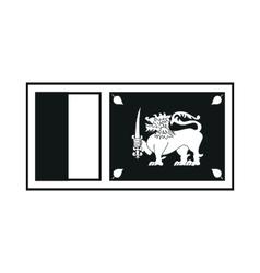 sri lanka flag monochrome on white background vector image