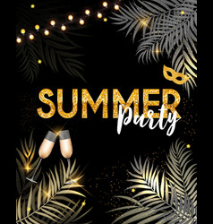 summer party poster background vector image vector image