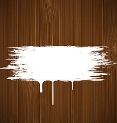 White paint on a wooden surface image vector